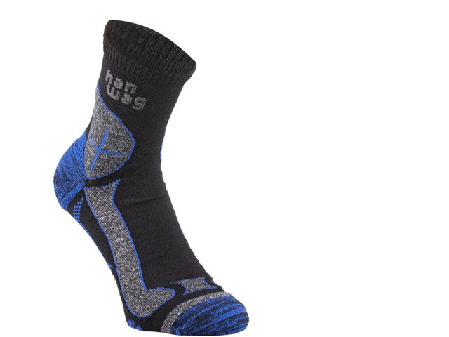 Hanwag Hike Merino Socken black/royal blue